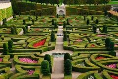 официально долина loire сада Франции Стоковая Фотография RF