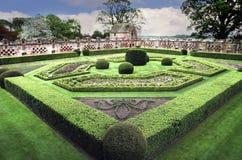 Официально огороженный сад на замке Edzell стоковые изображения