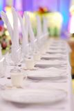 официально таблица стеклянных блюд установленная Стоковое Изображение