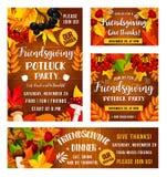 Официальныйо обед potluck праздника Friendsgiving бесплатная иллюстрация