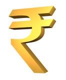 официальный символ рупии Стоковая Фотография RF