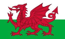 Официальный флаг вектора Уэльса Стоковое Изображение RF