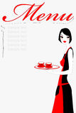 официантка сервировки кофе Стоковое Изображение