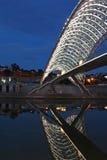 Официальное отверстие моста мира: новый пешеходный мост, Тбилиси, Georgia Стоковое Изображение