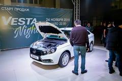 Официально начал продавать новую модель Lada Стоковое Изображение