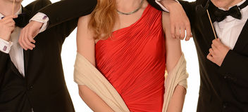 Официально платье и смокинги стоковое фото