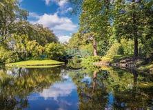 Официально сад в Бергене - Nygaardsparken Стоковая Фотография RF