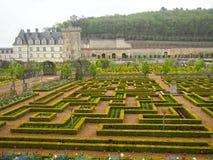 Официально сады на замке Villandry в Loire Valley Франции Стоковое фото RF