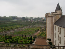 Официально сады на замке Villandry в Loire Valley Франции стоковая фотография rf