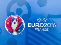 Официальный логотип чемпионата 2016 UEFA европейского в Франции иллюстрация штока