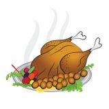 Официальный праздник в США в память первых колонистов Массачусетса Турции счастливое бесплатная иллюстрация