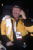 Официальный работник на телефоне во время 2002 Олимпиад зимы, Солт-Лейк-Сити, UT Стоковая Фотография