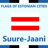 Официальный флаг эстонского города Suure-Jaani Стоковое Изображение