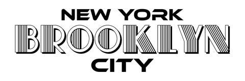 Оформление Бруклина Нью-Йорка городское для дизайна одеяния печати шелковой ширмы современного иллюстрация вектора