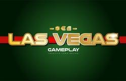 оформление дизайна открытки знамени логотипа текста слова Лас-Вегас Стоковая Фотография