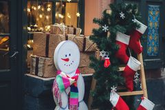 Оформление зимы рождества Стоковые Изображения RF
