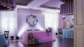 Оформление и украшение таблицы свадьбы видеоматериал