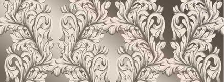 Оформление орнамента иллюстрации вектора картины штофа handmade Барочные лоснистые текстуры предпосылки Стоковая Фотография RF