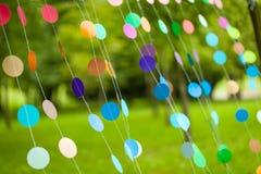 Оформление партии радуги живое Стоковая Фотография