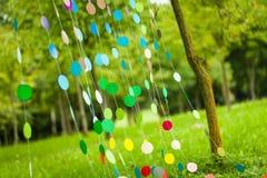 Оформление партии радуги живое Стоковые Фото