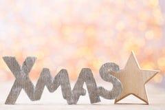 Оформление рождества и поздравительная открытка Xmas символа Стоковая Фотография RF
