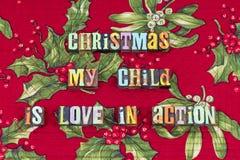 Оформление семьи действия любов ребенка рождества стоковые фотографии rf