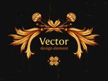 Оформление года сбора винограда вектора Горизонтальное знамя Винтаж иллюстрация вектора