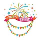 Оформление ленты дня рождения Стоковая Фотография