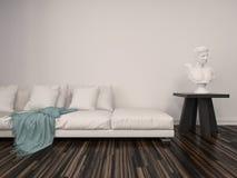 Оформление интерьера в классической живущей комнате Стоковое фото RF
