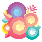 Оформление и цвет природы закручивают в спираль для визитной карточки дизайна Стоковые Изображения