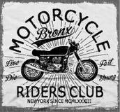 Оформление мотоцикла, винтажный мотор, графики футболки, векторы иллюстрация штока