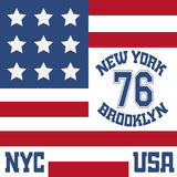 Оформление Нью-Йорка Бруклина, футболка бесплатная иллюстрация