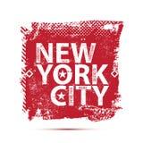 Оформление Нью-Йорка коллежа, футболка Стоковое Изображение RF
