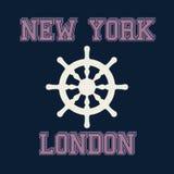 Оформление Нью-Йорка Лондона, графики футболки Вектор Illustratio Стоковые Фото