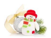 Оформление рождества и игрушка снеговика Стоковые Изображения