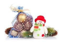 Оформление рождества и игрушка снеговика Стоковое Изображение RF