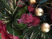 Оформление рождества на дереве Стоковые Фото
