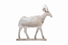 Оформление сада козы металла стоковое изображение rf