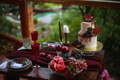 Оформление свадебного пирога Стоковое Изображение