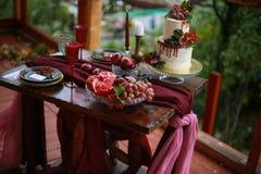 Оформление свадебного пирога Стоковые Изображения RF