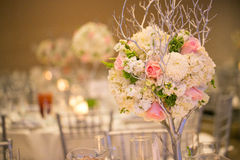 Оформление таблицы свадьбы Стоковые Изображения