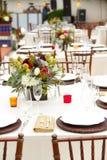 Оформление таблицы свадьбы Стоковые Фото
