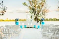 Оформление для свадебной церемонии лета Стоковые Фото