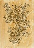 Оформление Acanthus золотое иллюстрация штока