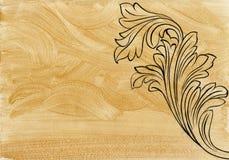 Оформление Acanthus золотое бесплатная иллюстрация
