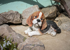 Оформление figurine собаки для сада Стоковое Фото
