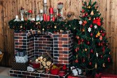 Оформления дома рождества зимы Стоковые Изображения RF