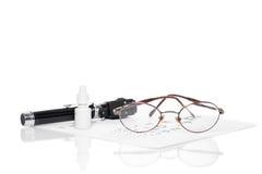 Офтальмоскоп, испытание глаза и стекла Стоковые Фотографии RF