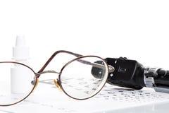 Офтальмоскоп, испытание глаза и стекла Стоковое Изображение RF