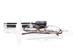 Офтальмоскоп, испытание глаза и стекла Стоковое фото RF